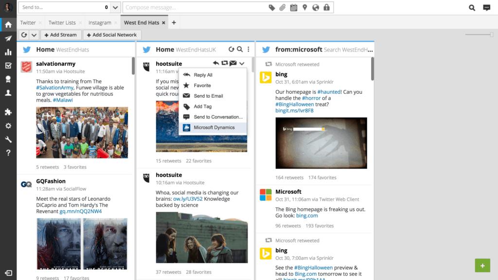 Microsoft Dynamics + Hootsuite